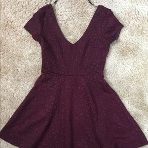 Dress from forever21! Deep burgundy/red